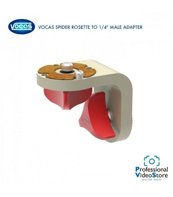 """VOCAS SPIDER ROSETTE TO 1/4"""" MALE ADAPTER"""