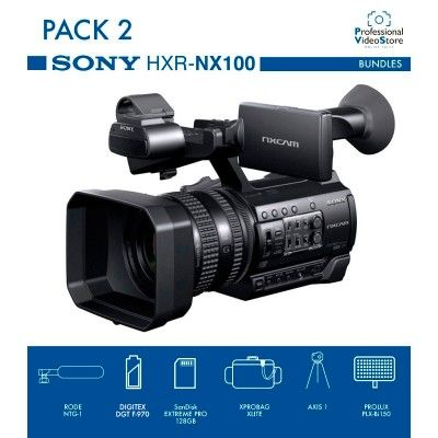 PACK 2 SONY HXR-NX100