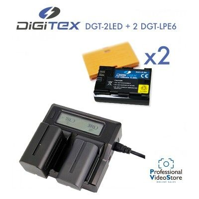 PACK 3 DIGITEX (Compatible with Canon LP-E6)