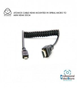 ATOMOS CABLE HDMI MOUNTED IN SPIRAL MICRO TO MINI HDMI 30CM