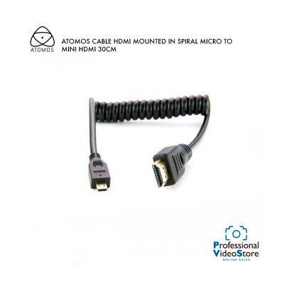 ATOMOS CABLE HDMI MOUNTED IN SPIRAL MICRO TO MINI HDMI 30CM