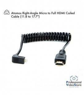 "Atomos Right-Angle Micro to Full HDMI Coiled Cable (11.8 to 17.7"")"