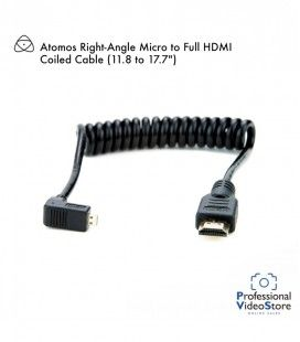 "Atomos Full HDMI to Full HDMI Coiled Cable (11.8 to 17.7"")"