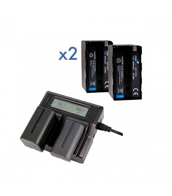 PACK 2 DIGITEX (Compatible with Sony NP-F970)