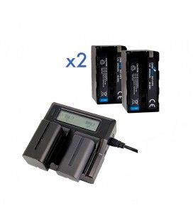 Pack 2 DGT-U65 + Dual Charger  (Compatible with Sony BP-U30/U60) Digitex