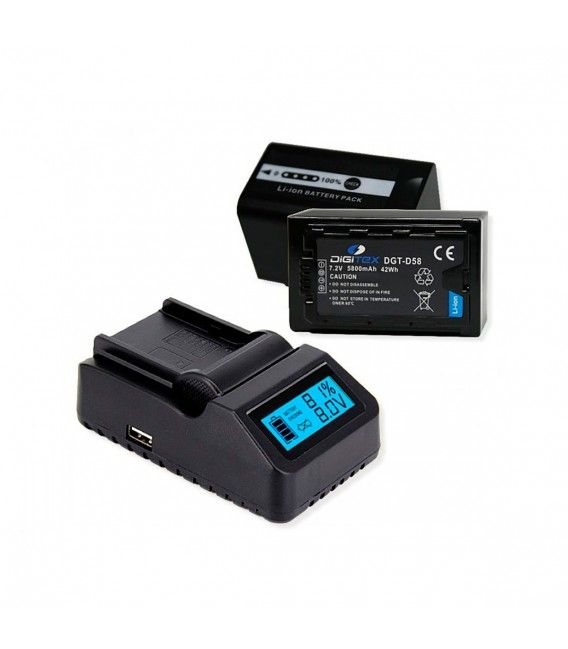 PACK DIGITEX (Compatible with Panasonic VW-VBD 58E)