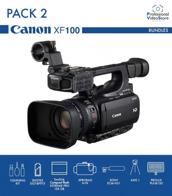 PACK 2 CANON XF100
