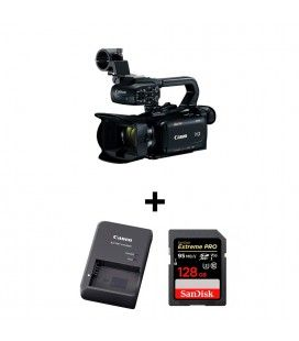 PACK CANON XA15 + SANDISK SDXC 128GB + BATTERY CHARGER CG800