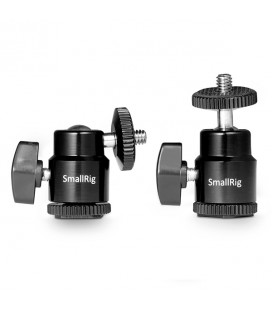 "SmallRig 1/4"" Camera Hot shoe Mount with Additional 1/4"" Screw (2pcs Pack) 2059"