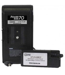 CoreSWX PowerBase 70 DSLR V-Mount Battery Pack 70wh, 14.4v 4.9Ah Li-Ion Battery