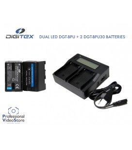 DIGITEX DUAL LED DGT-BPU CHARGER + 2 DGT-BPU30 BATTERIES
