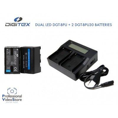 Pack 2 DGT-BPU30 + Dual Charger Digitex