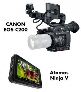 CANON EOS C200 + Ninja V + Power Kit