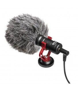 Boya Cannon microphone on cardioid camera BY-MM1