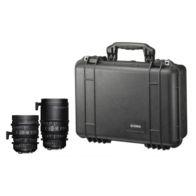 Sigma 18-35mm T2 + 50-100mm T2 Set with Case