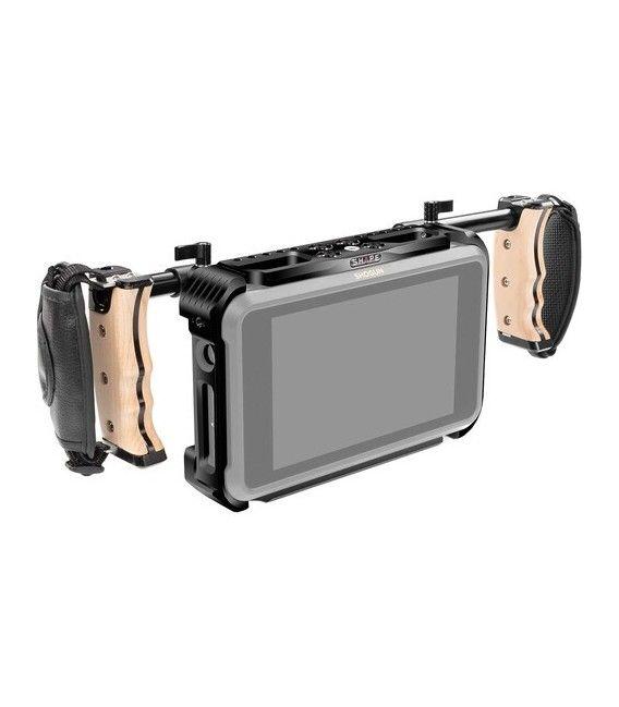 SHAPE Dual Wooden Handle Cage for Atomos Shogun 7 Monitor