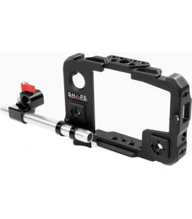 """SHAPE Cage with Swivel Rod Clamp and 6"""" 15mm Rod for Atomos Shinobi Monitor"""