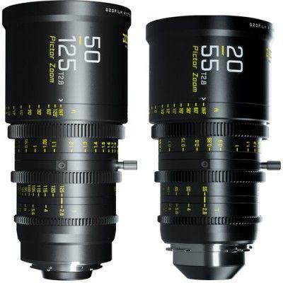 DZOFilm Pictor 20-55mm and 50-125mm T2.8 Super35 Zoom Lens Bundle (PL Mount and EF Mount, Black)