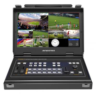 AVMATRIX PVS0613U Portable 6CH SDI/HDMI Multi-format Video Streaming Switcher