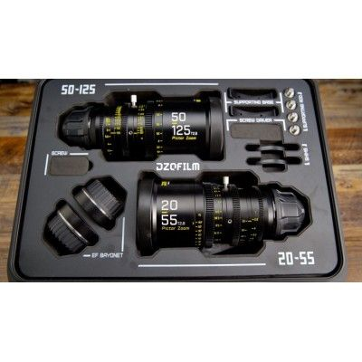 DZOFilm Pictor 20-55mm and 50-125mm T2.8 Super35 Zoom Lens Bundle (PL Mount and EF Mount, Black)