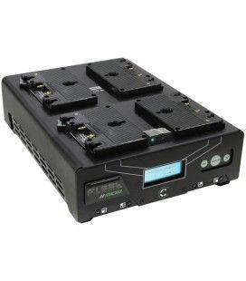 Core SWX VoltBridge Enabled Fleet Micro 3A Digital Quad Charger for Gold Mount Batteries