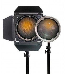 Prolux kit fresnel FL2 + barndoors BD2 para PLX-F80b y PLX-F120b